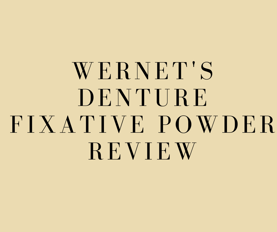 Wernet's Denture fixative powder review