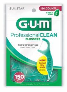 GUM Professional Clean Flossers, Fresh Mint